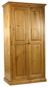 Гардероб с две врати от Чам  - КОНАС ООД  - производство на  мебели от масив, дървен материал и дървен материал за строителството