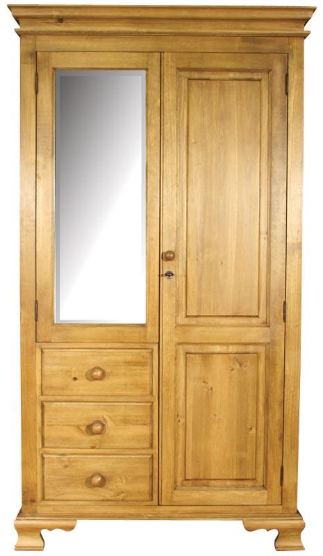 Гардероб комбиниран чам - КОНАС ООД  - производство на  мебели от масив, дървен материал и дървен материал за строителството
