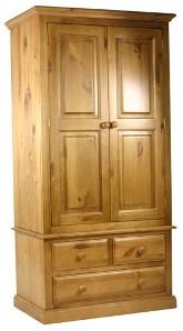Гардероб с две врати и две чекмеджета  - КОНАС ООД  - производство на  мебели от масив, дървен материал и дървен материал за строителството