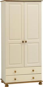 Двукрилен гардероб чам БЯЛ - КОНАС ООД  - производство на  мебели от масив, дървен материал и дървен материал за строителството