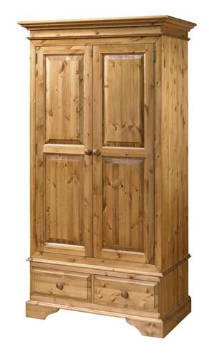 Двукрилен гардероб с 2 чвкмиджета - КОНАС ООД  - производство на  мебели от масив, дървен материал и дървен материал за строителството