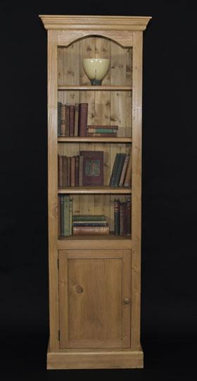 Библиотека от чам с 1 врата - КОНАС ООД  - производство на  мебели от масив, дървен материал и дървен материал за строителството