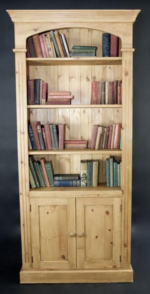 Библиотека от чам с 2 врати - КОНАС ООД  - производство на  мебели от масив, дървен материал и дървен материал за строителството