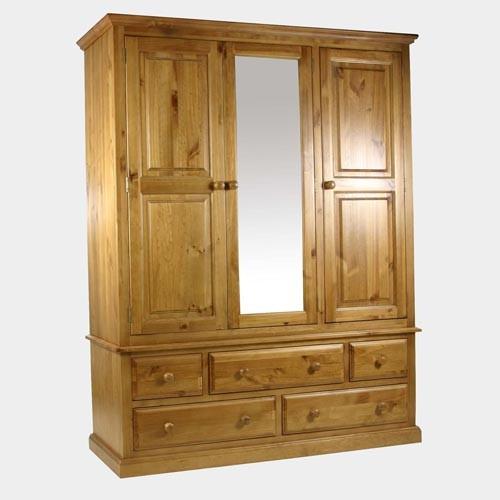 Комбиниран гардероб с огледало чам - КОНАС ООД  - производство на  мебели от масив, дървен материал и дървен материал за строителството